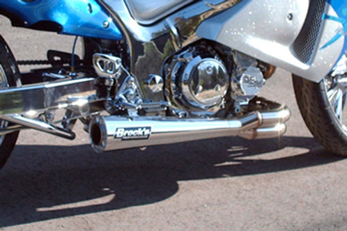 "Brocks 4-2-1  Sidewinder Full System 14"" Muffler"
