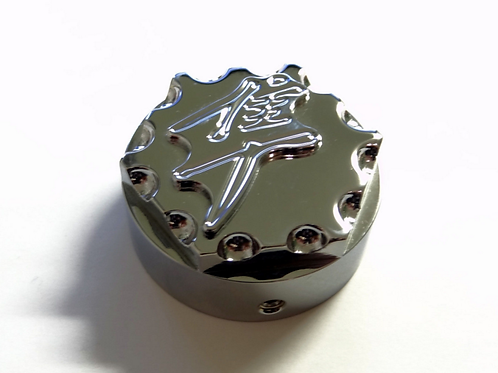 3D Chrome Scallop Cut Stem Nut Cap