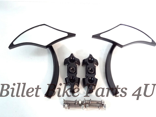 Black Eagle Beak Mirrors & Base Plates