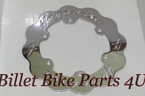 Rear Brake Rotor Polished Fits stock Wheel