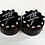 Thumbnail: 3D Black Scallop Cut Fork Cap Covers