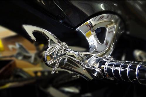 Hayabusa Chrome 3D Kanji Exhaust Plug