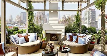Outdoor Terrace fireplace, Delhi