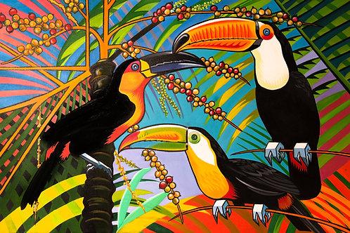 Rainbow Toucan - The Watercolour Bird