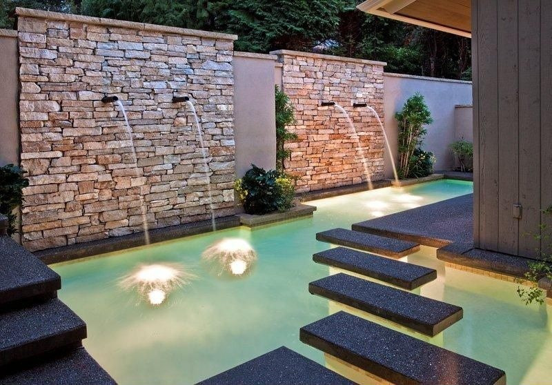 waterfall, terrace swimming pool design in delhi, terrace garden designers delhi