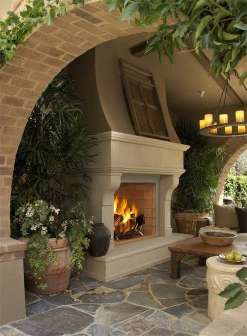 Fireplace design in delhi, terrace garden design