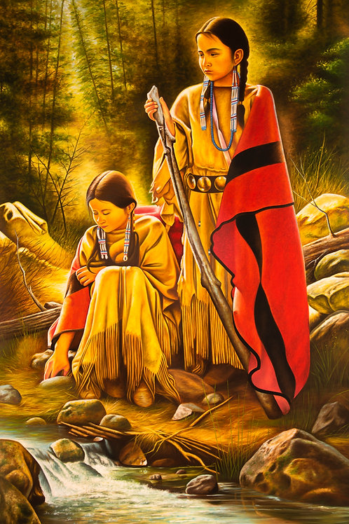 Tribal Girls / Sisters At Shore