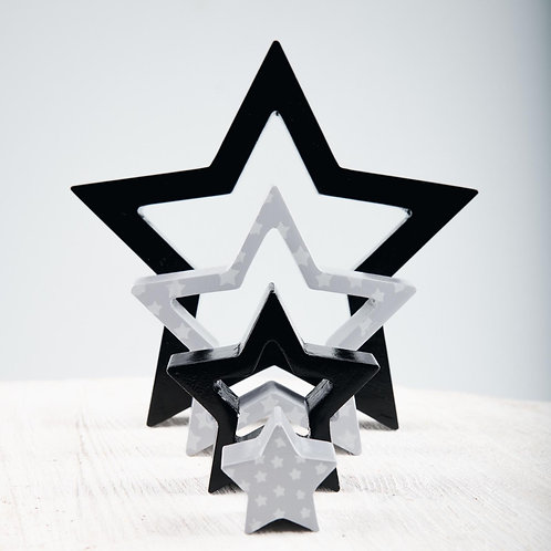 Space and Beyond Wooden Puzzle Stacking Star
