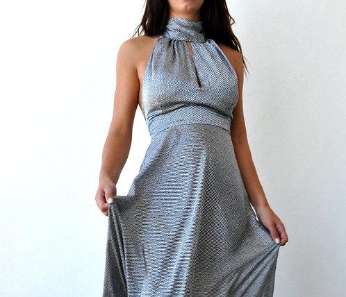 Marilyn Dress in Grey Print
