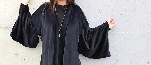 Luxe Midnight Velvet Kimono