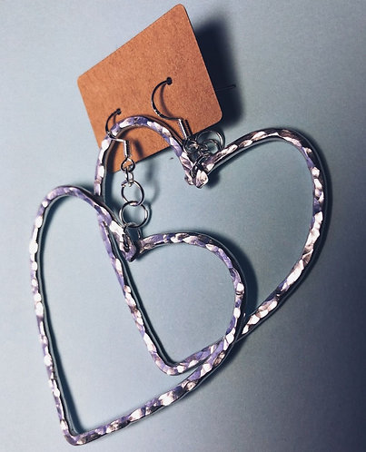 SG Jewellery Heart Earrings