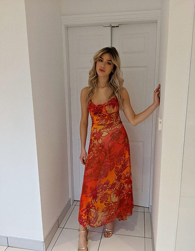 Millie Burnt Orange Maxi