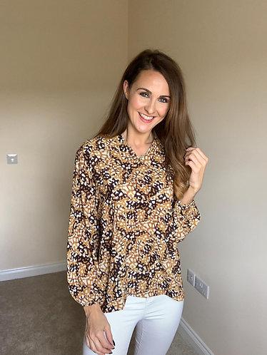 Lola Mustard Print Shirt
