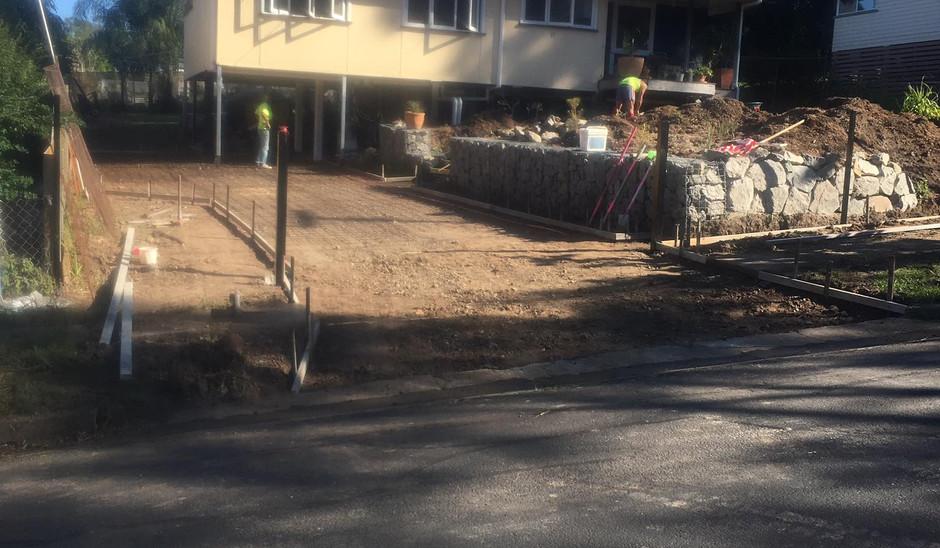 Otto Hire concrete preparation