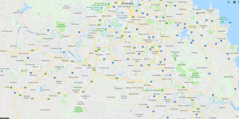 Map of Brisbane - Otto Hire Service area
