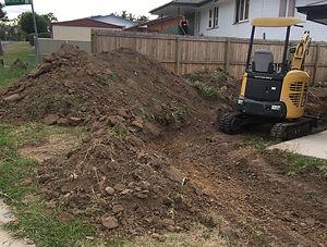 Digger excavating