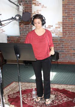 Mandy in the studio