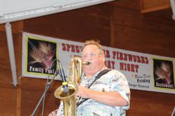 Lou and his bari sax....Hampton 2015
