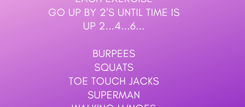 Got 20 minutes! This workout is perfect if you have limited time.  You will certainly break a sweat!