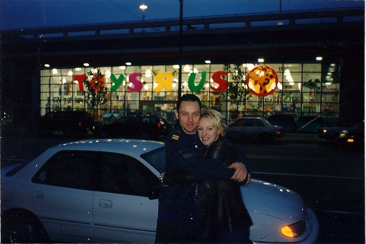 Nic with Daz - Vancouver - 1998