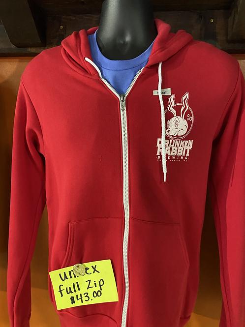 Full Zip Hoodie (Unisex) - Red