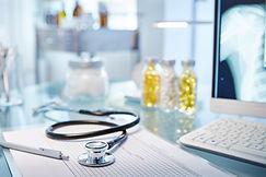 Manhattan Internal Medicine Associates desk with tools to help discuss preventative medicine with a patient.