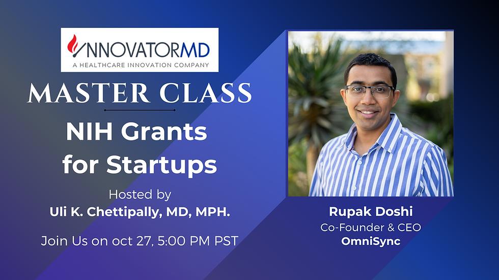 InnovatorMD Master Class - NIH Grants  for Startups