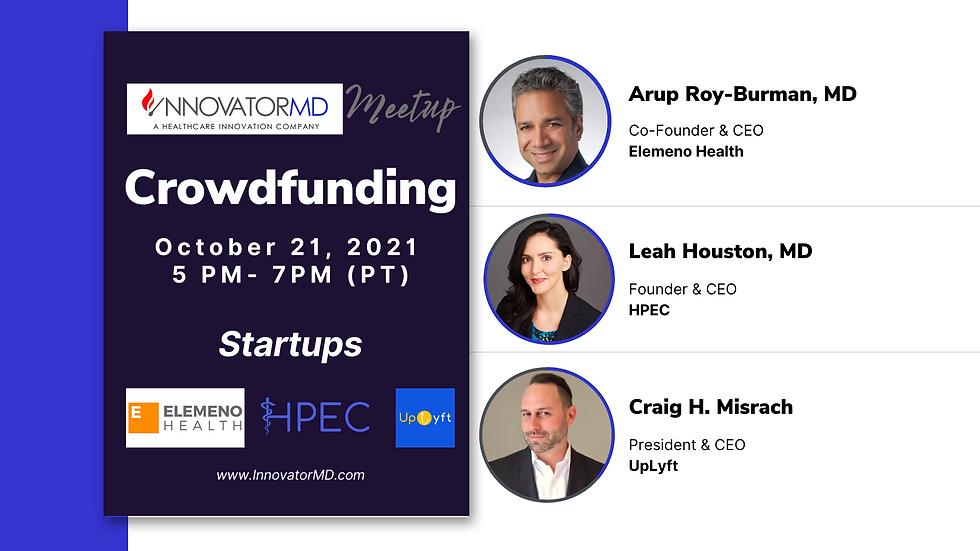 InnovatorMD Meetup  - Crowdfunding