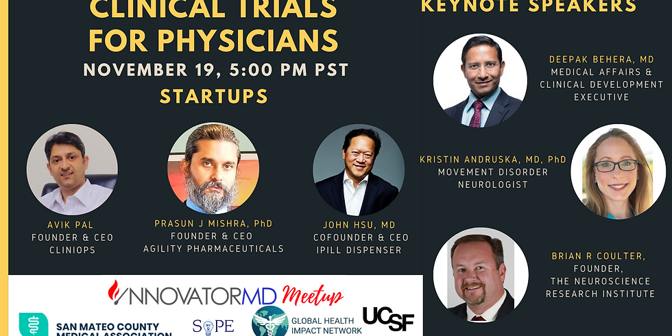 Clinical Trials for Physicians - InnovatorMD Meetup