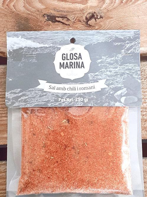 Sal marina aromática chili y romero