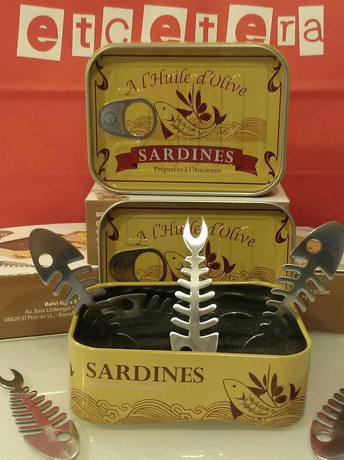 Appetizer sardine fork