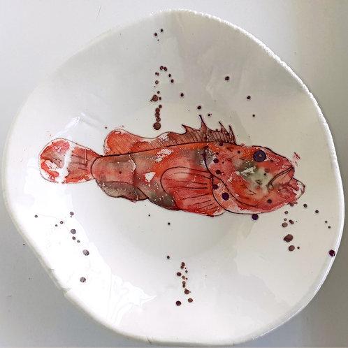 Fish ceramic plate