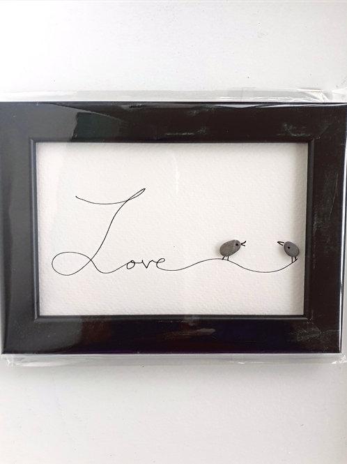Cuadro marco negro LOVE