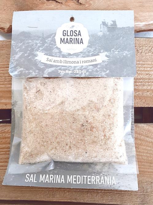 Lemon and rosemary aromatic sea salt