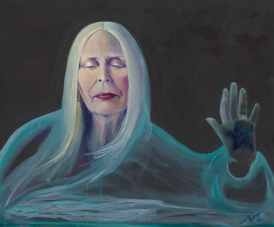 Portrait of Joni Mitchell by Nina Vox