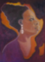 Portrait of Nina Simone by Nina Vox