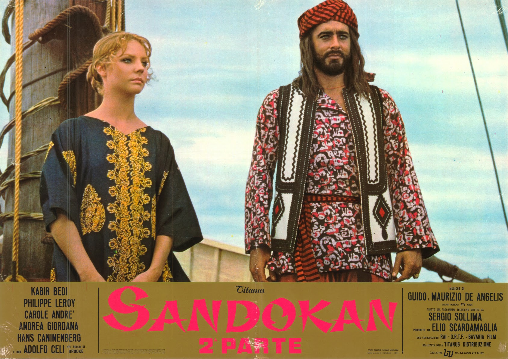 POSTER SANDOKAN & MARIANNA ON SHIP