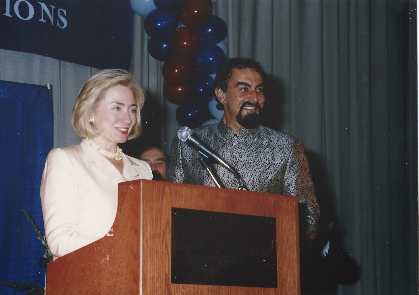 Kabir Bedi with Hiliary Clinton FINAL