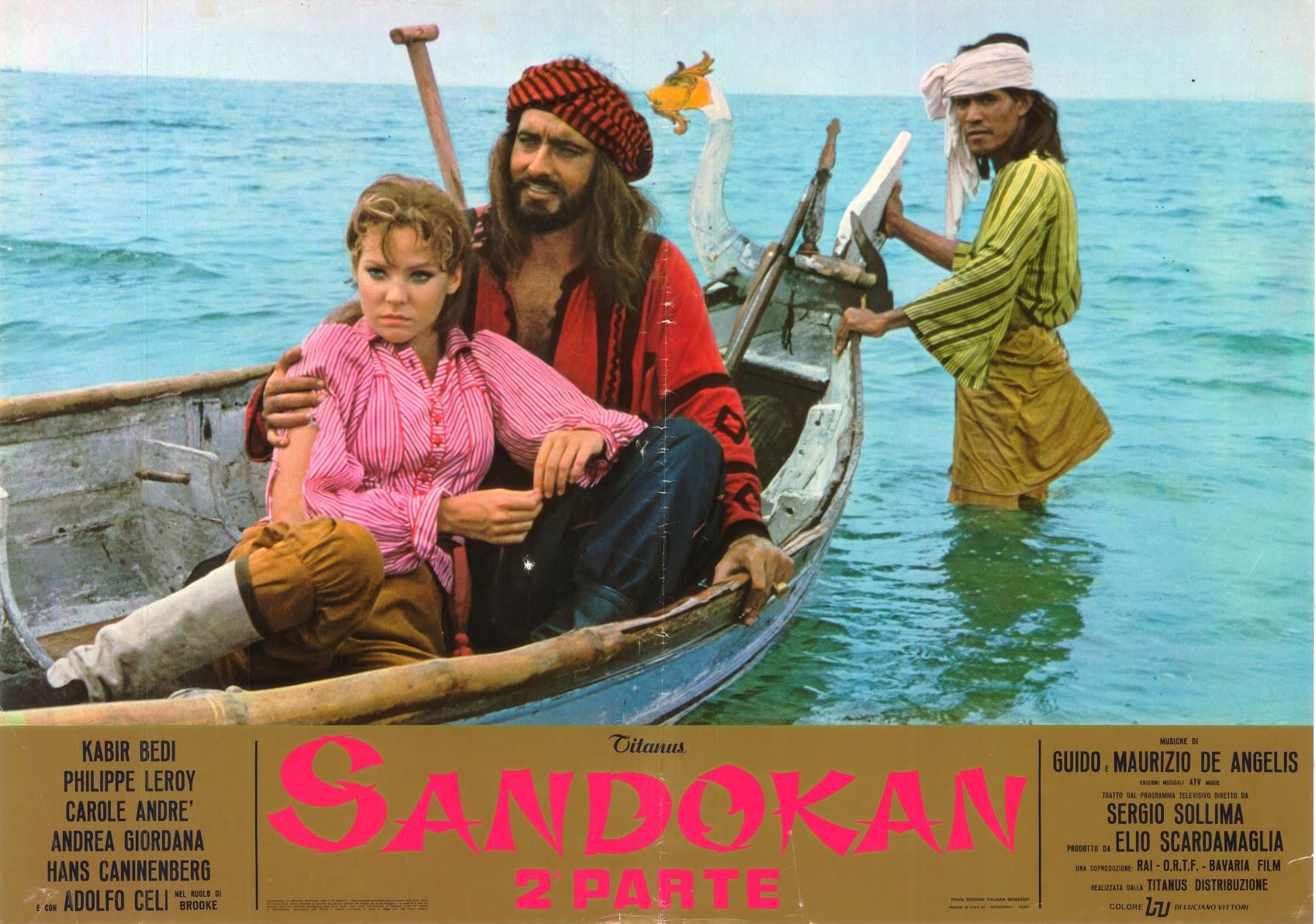 POSTER SANDOKAN & MARIANNA ON BOAT