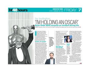 I'm holding an Oscar