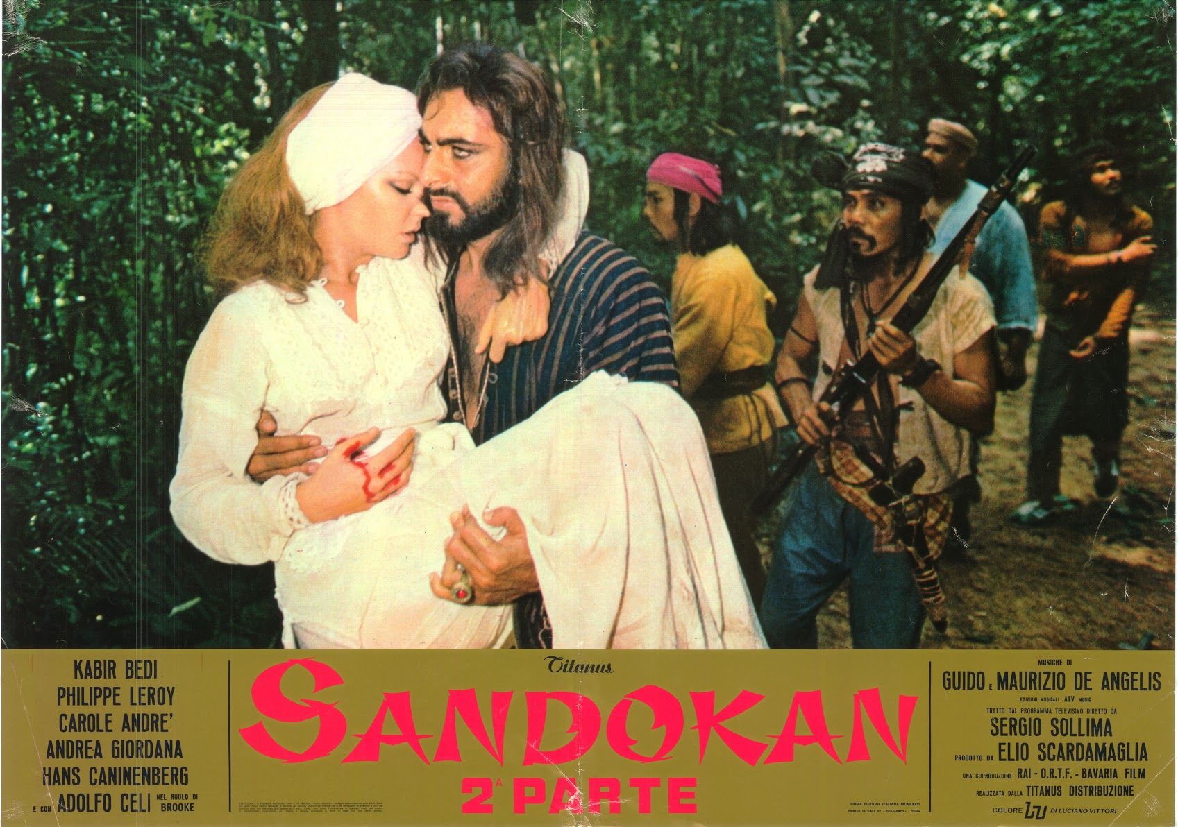 POSTER SANDOKAN carrying MARIANNA 1