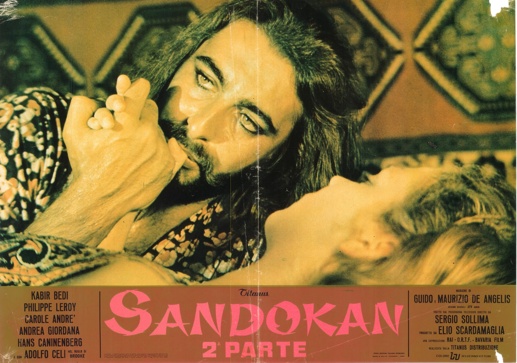 POSTER SANDOKAN kissing MARIANNA HANDS