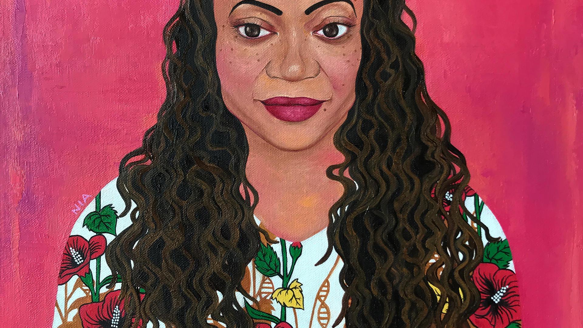 Dr. Karen Scott. Oil on canvas. Nia Imara.