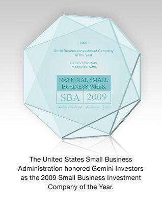 Gemini Investors National Small Business Week Award