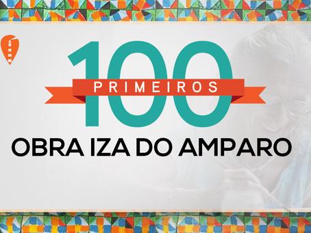 #os100primeiros visitantes