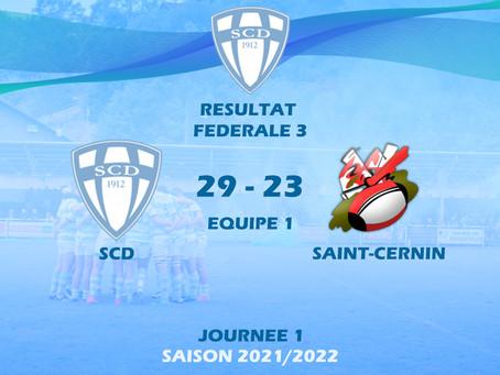 SCD - ST CERNIN : Première victoire de la saison !