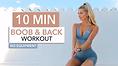 Pamela Reif boob & back workout
