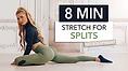 Pamela Reif Workout stretch for splits