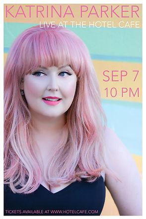 Katrina Parker At Hotel Cafe Show Flyer