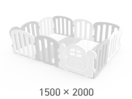 iFam First Baby Playpen for Your Playmat Size: 1.5 x 2.0m